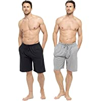 CityComfort Men's Twin Pack Pyjama Bottoms | Pack of Two Cotton Shorts with Elasticated Waist | Soft, Cosy & Comfy…