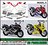 Kit ADESIVI Decal Stikers Honda CBR 600 F2001 (Ability to Customize The Colors)