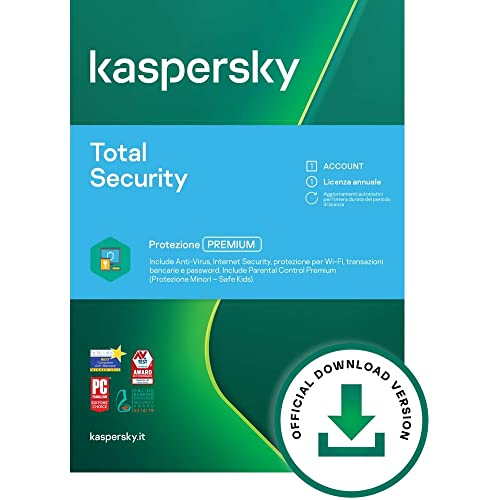 Kaspersky Total Security | Full | 1 Dispositivo | 1 Anno | PC/Mac | Codice d'attivazione via email