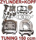 Unbranded 150ccm Tuning Zylinder Kopf VENTIL Set KOMPLETT für KREIDLER INSIGNIO 125 Zylinderkit