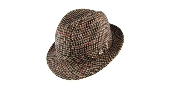 84e79a4a Bailey Hats Italian Tweed Trilby Hat - Black Black Mix X-LARGE:  Amazon.co.uk: Clothing