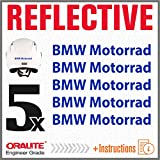 5pcs Reflektierende Aufkleber BMW Motorrad F650GS F 650 GS F650 F700GS 700 F700 F800GS 800 F800 R1150GS R1150 1150 R1200GS R1200 1200 R1200R R1200 R S1000XR S 1000 XR S1000 R1200RT R1200 RT (Blue)