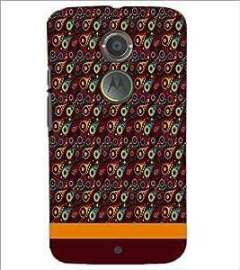 PrintDhaba Pattern D-1855 Back Case Cover for MOTOROLA MOTO X2 (Multi-Coloured)