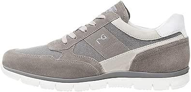 Nero Giardini P900840U Sneakers Uomo in Pelle, Camoscio E Tela