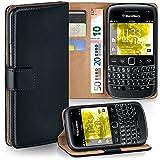 Pochette OneFlow pour BlackBerry Bold 9790 housse Cover avec fentes pour cartes | Flip Case étui housse téléphone portable à rabat | Pochette téléphone portable étui de protection accessoires téléphone portable protection bumper en DEEP-BLACK