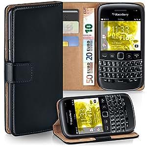 Pochette OneFlow pour BlackBerry Bold 9790 housse Cover avec fentes pour cartes   Flip Case étui housse téléphone portable à rabat   Pochette téléphone portable étui de protection accessoires téléphone portable protection bumper en DEEP-BLACK