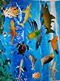 #8: Siddhi Vinayak™ Jumbo Size Ocean/Water/Marine Animals Figures Set Toy for Kids with a Ocean Camouflage Mat (Multi Colour)