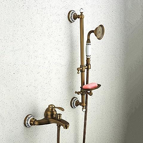 YanCui@ Rubinetti per doccia Protezione ambientale europeo creativo e doccia spray top tubo di risparmio energetico tocca Imposta