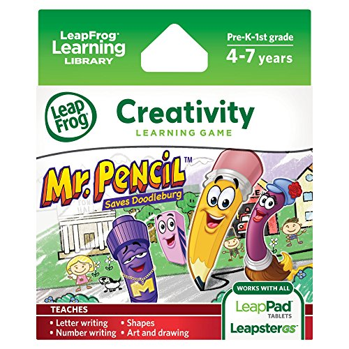LeapFrog Explorer Game Mr Pencil Saves Doodleburg for LeapPad and Leapster