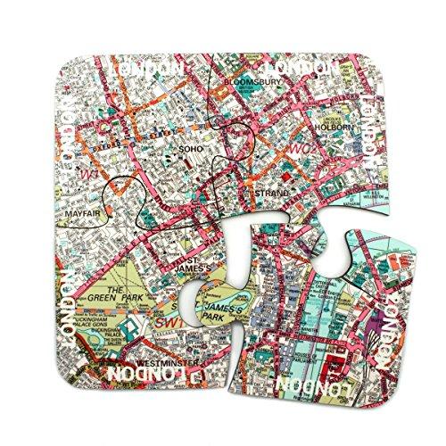 World Untersetzer, Design: Stadtplan London