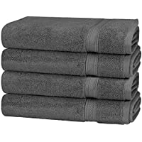 700 GSM Algodón (41 x 71 cm) Toalla de mano Set, Set de 4, gris por Utopia Towels
