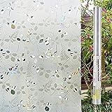 LEMON CLOUD 3D - kleber Statische Selbstklebende fensterglas Film Anti - UV - an Privatsphäre Aufkleber für Zimmer - Bad - Küche - Wohnzimmer zu Hause Dekoration (45cmx200cm, mimosen)