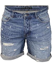 Brave Soul hommes déchiré short jeans Gregor jeans délavé Pantalon longueur genou été