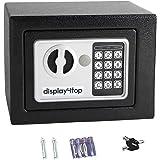 Display4top Elektronische Kluis, Beveiliging stalen kleine thuiskantoor digitale elektronische veilig met twee sleutels (17 ×