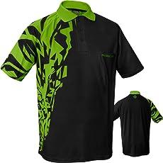 Harrows Rapide Dart Shirt–Atmungsaktiv mit Pocket–Schwarz & Grün–Kleine bis 5X L erhältlich
