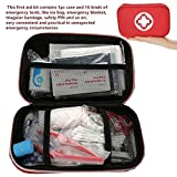 First Aid Kit, Travel Emergency Case Box Sportsman Rescue Bag Suitable for the Home, Office, School, Car, Camping, Hiking, Hunting Sports Outdoor Travel Emergency Care, FDA Certification