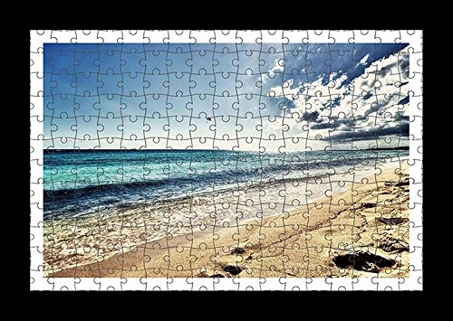 puzzle-style-pre-assembled-wall-print-of-sandy-beach-at-the-ocean-by-lisa-loft