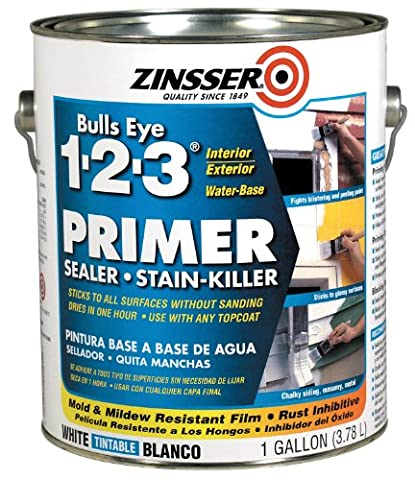 Rustoleum 02001 Gallon Bulls Eye 1-2-3 Primer Sealer Stain Killer - Paquet de 4