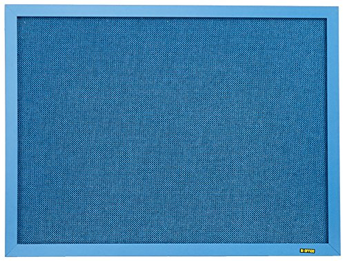 Ecke Gerahmt (Bi-Office FB041301238 - Blue Bells Notiztafel, MDF Rahmen Textiloberfläche, 22 mm dicker, blau)