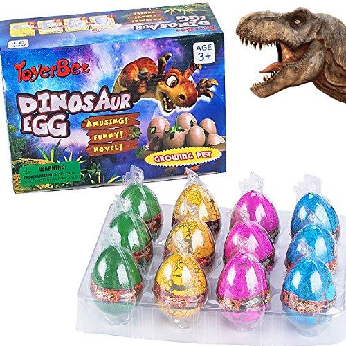 German Trendseller® - 3 x Magische Dino Ei-er ★ NEU ★ ┃ ++ Echt schlüpfender Dino ++ ┃ Mitgebsel ┃ Kindergeburtstag ┃ Dinosaurier ┃ 3 x Dino Eier
