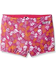 Arena All Over Print Drag Shorts - Rose / Blanc