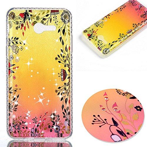 KM-WEN® Schutzhülle für Apple iPhone 7 Plus (5,5 Zoll) Diamant Dämmerung Serie Schwarz Blumen Muster Ultra-dünnes Weiche TPU Case Cover Rückseite Schutzhülle Hülle für Apple iPhone 7 Plus (5,5 Zoll) F Farbe-12