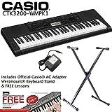 Für Casio CTK-3200 Berührungssenibles Tastatur + Westmount Ständer + Netzteil exklusives Westmount Music