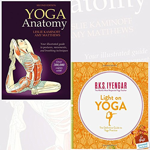 Yoga Anatomy and Light on Yoga 2 Books Bundle Collection With Gift Journal - 2nd Edition, The Definitive Guide to Yoga Practice