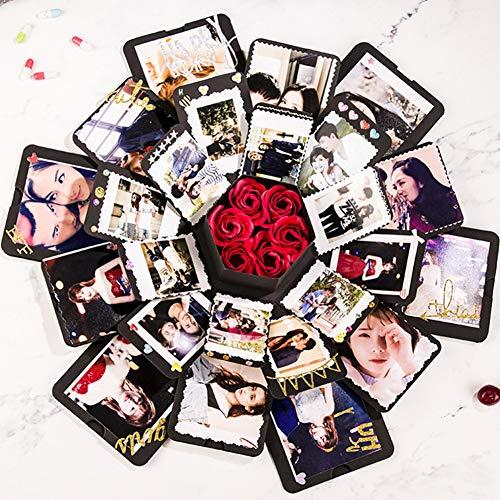 ZYBC Scatola di Esplosione Creativa Scatola di Foto di Album di Foto Pieghevole Regalo Esplosione per Il Compleanno di San Valentino