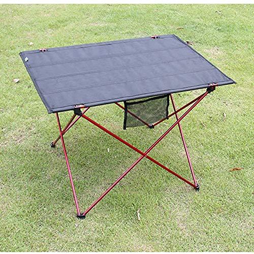 VYN Haushalt Leichte tragbare Campingtisch Faltbare kompakte Picknicktisch Roll up mit Tragetasche für Outdoor Camp Beach,rot, -