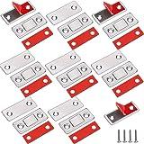 Kastmagneten Jiayi 8 Stuks Ultradunne Magnetische Deurvanger Lade-magneet Roestvrij Staal Magnetische Sluitingen Voor Schuifd