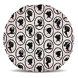 parisien chic cameos-cameos silhouette sur un fond rose mélangé avec un journal imprimé.Ce beau coussin de décoration d'intérieur est si doux et moelleux, vous ne peut pas résister caressant elle. Un excellent ajout à toute salle de séjour, chambre... [Méridienne]