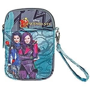 Perletti Taschenorganizer für Mädchen mit Motiven aus dem Walt Disney Film Descendants – 18 x 12 x 3 cm – Türkis