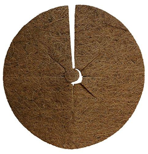 Protection plantes disque de paillage en fibres, coco disque protection d'hiver pour plantes en pot 45 cm