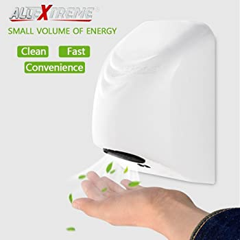AllExtreme Automatic Electric Hand Dryers for Bathroom, Commercial Intelligent Induction Mini High Speed Drying Machine with Fast Warm Air (Model 2)