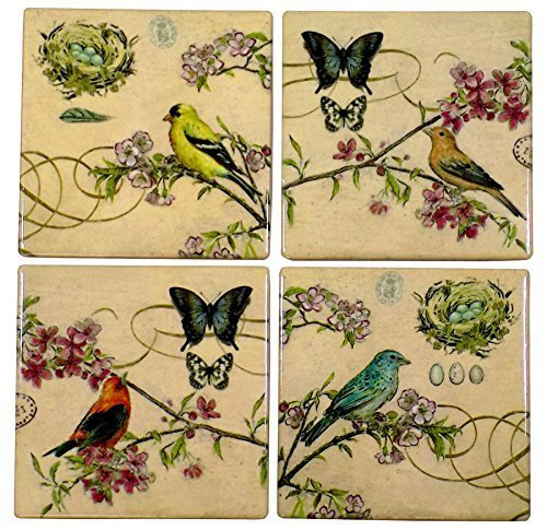 juego-de-4-beis-ceramica-vidriado-pajaro-mariposa-posavasos-y-blanco-soporte-10cmx10cm