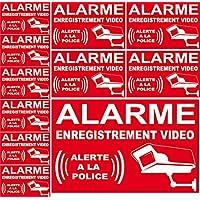 Autocollant de dissuasion - alarme enregistrement vidéo alerte à la police