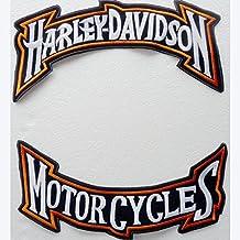 Juego 2 grandes parches Harley Davidson Motorcycles estilizados Biker Custom Moto (para personalizar motocicletas)