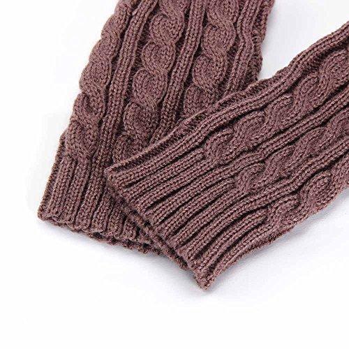 Neue Mode Winter Finger Handschuhe Strick Handschuh Kurz Half-finger Handschuhe Weihnachten Der Zubehör Arm Wärmer Kurze Handschuhe ZuverläSsige Leistung Armstulpen