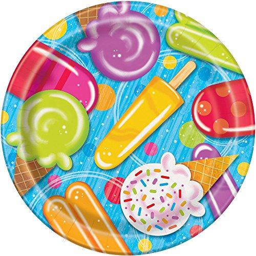 Unique Party 5151523cm Popsicle und Eis Sommer Party Teller (8Stück)