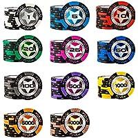 Casino Ausrüstung Poker Chips Verbundton Spielsets Spielzeug