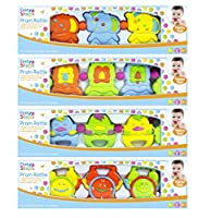 First Steps Baby Pram Rattle 4 Assorted Designs