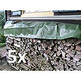 NOOR 5x Holz Abdeckplane Stabile Gewebe Plane Gewebeplane 210 g/m² 6 x 1,5 m NEU 68071