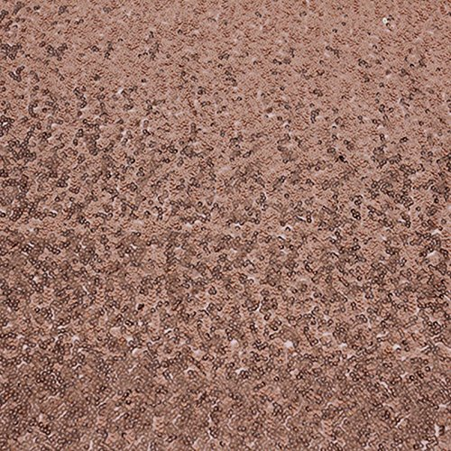 Kicode Sparkly sequin Chemins de table Pour Wedding Party Birthday Party de Noël Prom (Or rose)