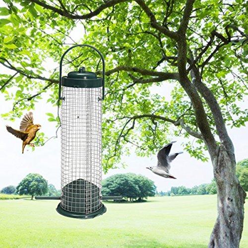 SAFETYON Futterhäuschen Eichhörnchen Proof Wild Bird Feeder Hängende Samenstation Outdoor Wildlife Seed Tray Perfekt für den Garten im Freien