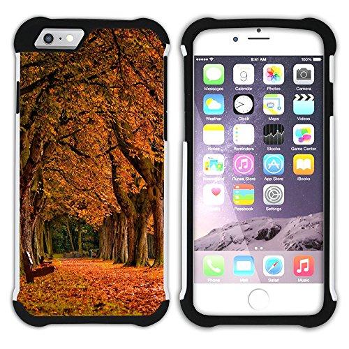 Graphic4You Herbst Leaves Bäume Postkarte Hart + Weiche Kratzfeste Hülle Case Schale Tasche Schutzhülle für Apple iPhone 6 Plus / 6S Plus Design #5