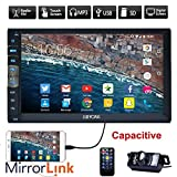 New Brand Upgarde versione capacitivo da 7 pollici touch screen Audio (Mirror Link for GPS Android Phone) Doppia 2 DIN Stereo Bluetooth in precipitare Radio Video auto senza lettore DVD + telecamera posteriore