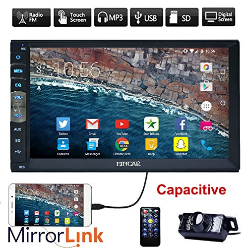 Neue Marke Upgarde Version 7 Zoll kapazitiver Touch Screen Audio (Spiegel Link for GPS Android Phone) Double 2 Din Bluetooth Auto-Stereo-In-Schlag-Video Auto Radio ohne DVD-Player + R¨¹ckfahrkamera
