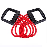 ZAxe Adjustable Multi-Function 5 Rubber Tubes Chest Expander/Chest Developer/Rubber Rope/Chest Flexor/Muscle Pulling Exerciser/Muscle Workout Stretcher Home & Gym Equipment