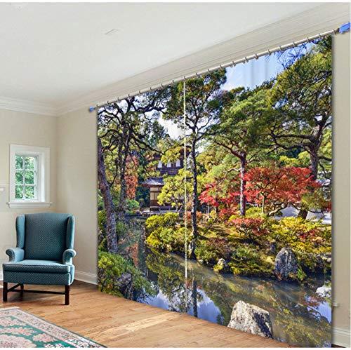 WKJHDFGB Park Corner Personalisierte Antike Baum Print Vorhang Schatten Tuch Vorhang 245X340Cm -